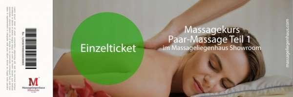 Massagekurs Klassische Paar Massage | 6 Stunden