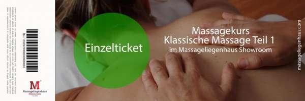 Massagekurs Klassische Massage | 6 Stunden