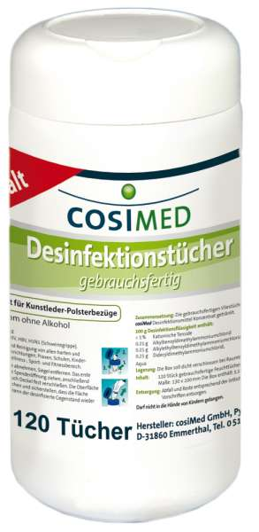 cosiMed Disinfectant Wipes | 120 pcs