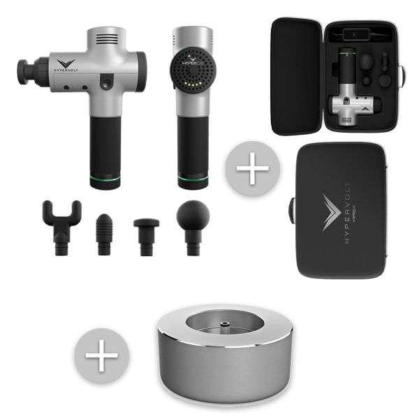 Hyprice-Hypervolt-Vibrationsmassagetool-Set mit-tasche-case-ladestation